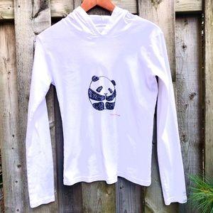 American Apparel Panda Bear Print Cotton Hoodie